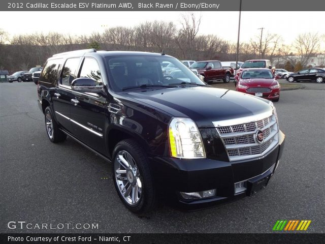 2012 Cadillac Escalade ESV Platinum AWD in Black Raven