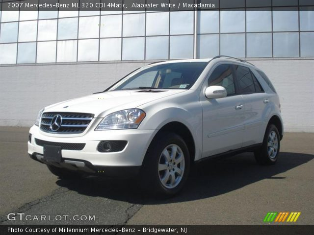 alabaster white 2007 mercedes benz ml 320 cdi 4matic macadamia interior. Black Bedroom Furniture Sets. Home Design Ideas