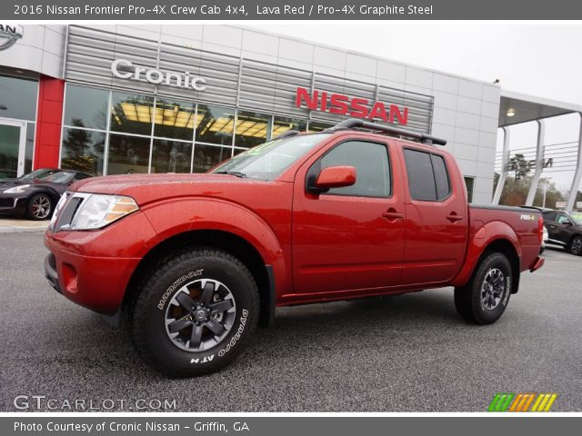 lava red 2016 nissan frontier pro 4x crew cab 4x4 pro. Black Bedroom Furniture Sets. Home Design Ideas