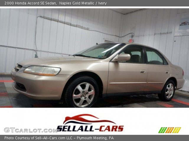2000 Honda Accord SE Sedan in Naples Gold Metallic