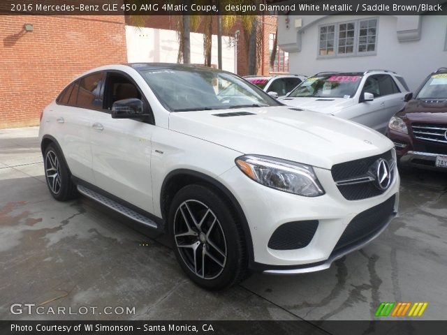 2016 Mercedes-Benz GLE 450 AMG 4Matic Coupe in designo Diamond White Metallic