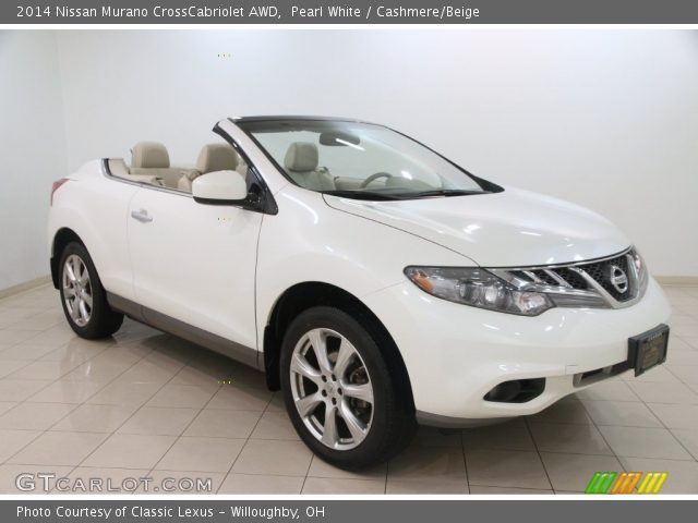 pearl white 2014 nissan murano crosscabriolet awd cashmere beige interior. Black Bedroom Furniture Sets. Home Design Ideas