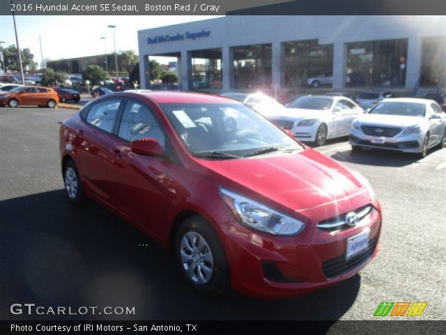 2016 Hyundai Accent SE Sedan in Boston Red