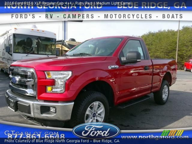 2016 Ford F150 XLT Regular Cab 4x4 in Ruby Red