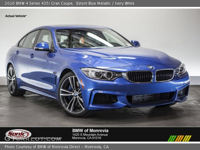 estoril blue metallic 2016 bmw 4 series 435i gran coupe. Black Bedroom Furniture Sets. Home Design Ideas