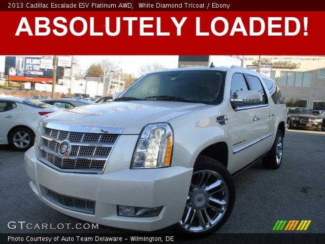 2013 Cadillac Escalade ESV Platinum AWD in White Diamond Tricoat