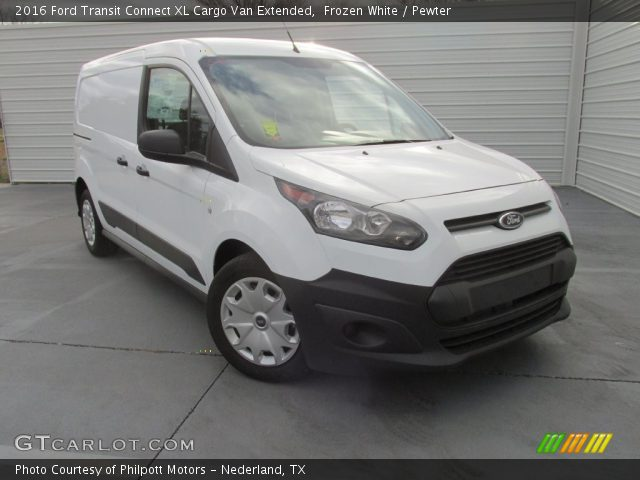 frozen white 2016 ford transit connect xl cargo van extended pewter interior. Black Bedroom Furniture Sets. Home Design Ideas