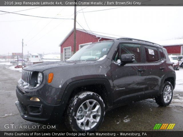 granite crystal metallic 2016 jeep renegade latitude 4x4 bark brown ski grey interior. Black Bedroom Furniture Sets. Home Design Ideas