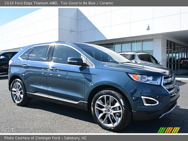 Too good to be blue 2016 ford edge titanium awd ceramic interior vehicle for 2016 ford edge exterior colors