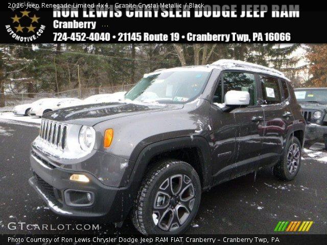 2016 Jeep Renegade Limited 4x4 in Granite Crystal Metallic
