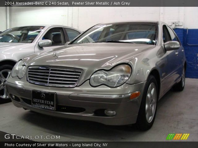 pewter silver metallic 2004 mercedes benz c 240 sedan ash grey interior. Black Bedroom Furniture Sets. Home Design Ideas