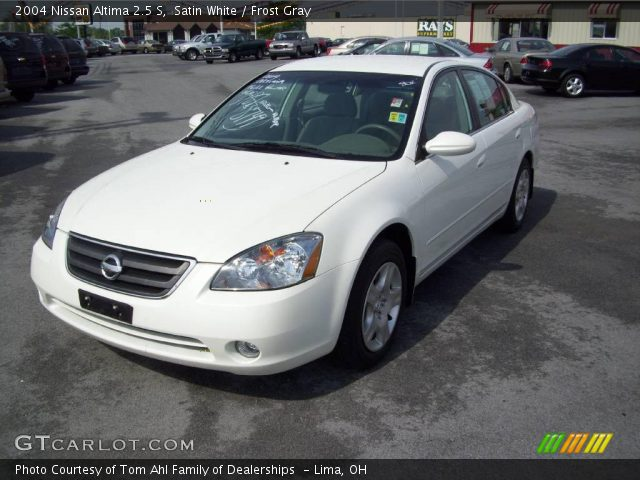Satin White 2004 Nissan Altima 25 S Frost Gray Interior