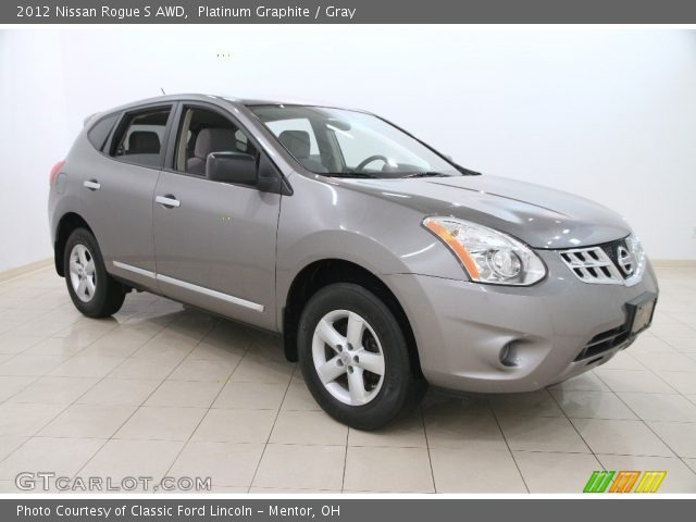 Platinum Graphite 2012 Nissan Rogue S Awd Gray Interior Vehicle Archive
