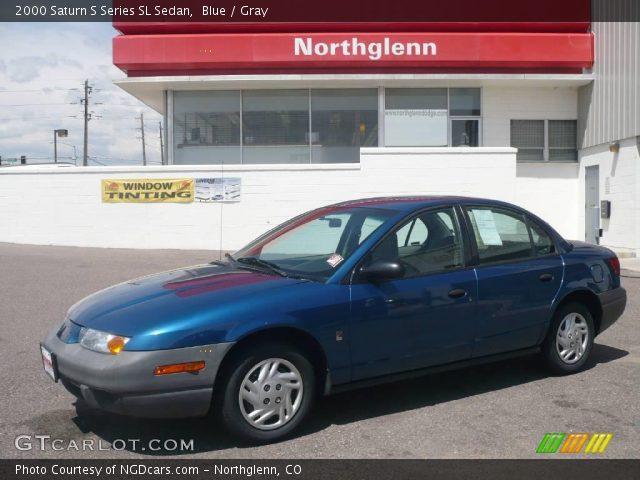 blue 2000 saturn s series sl sedan gray interior vehicle archive 11040540. Black Bedroom Furniture Sets. Home Design Ideas