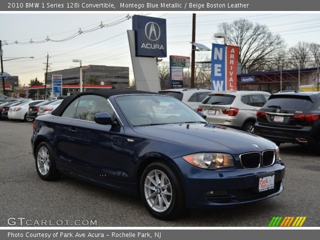 2010 BMW 1 Series 128i Convertible in Montego Blue Metallic