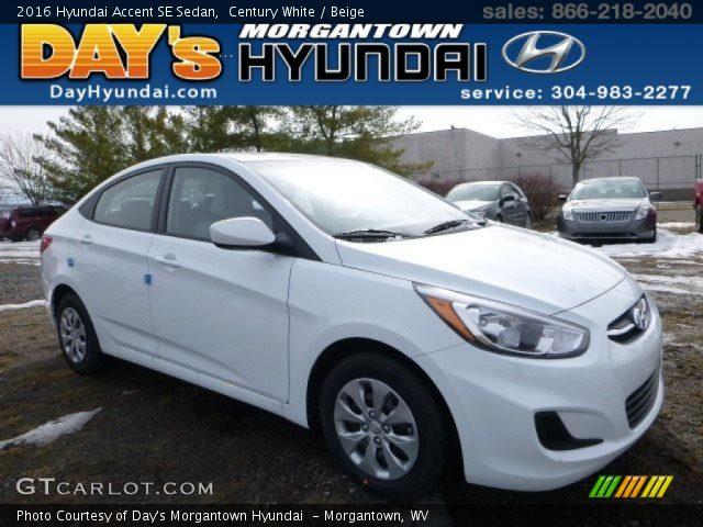 2016 Hyundai Accent SE Sedan in Century White
