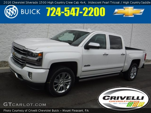 2016 Chevrolet Silverado 1500 High Country Crew Cab 4x4 in Iridescent Pearl Tricoat