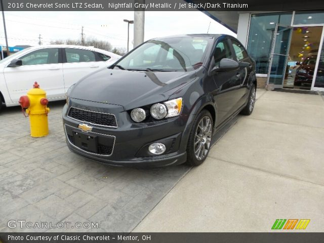 nightfall gray metallic 2016 chevrolet sonic ltz sedan. Black Bedroom Furniture Sets. Home Design Ideas
