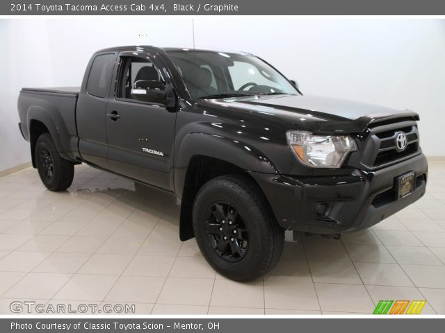 black 2014 toyota tacoma access cab 4x4 graphite interior vehicle archive. Black Bedroom Furniture Sets. Home Design Ideas