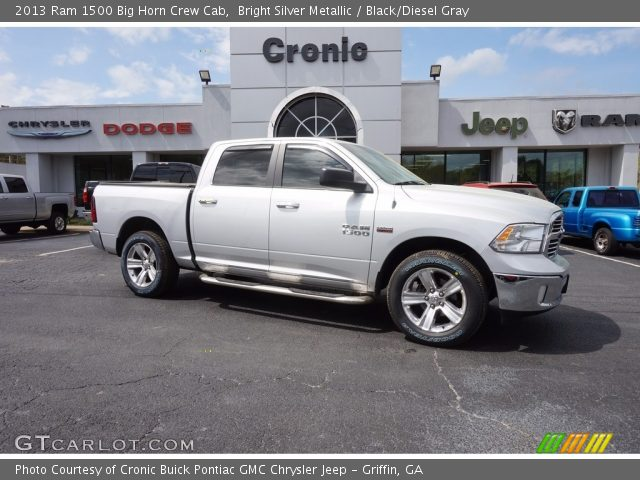 2013 Ram 1500 Big Horn Crew Cab in Bright Silver Metallic
