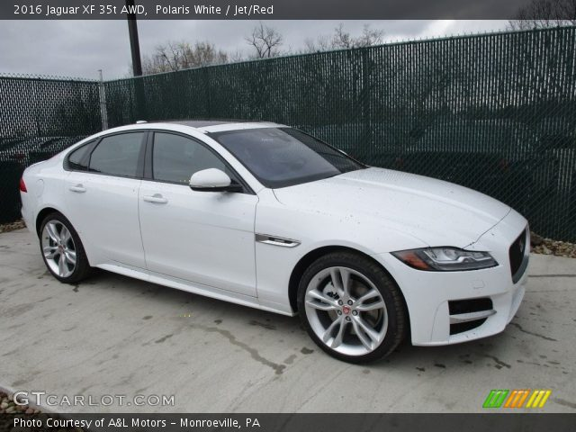 polaris white 2016 jaguar xf 35t awd jet red interior vehicle archive. Black Bedroom Furniture Sets. Home Design Ideas
