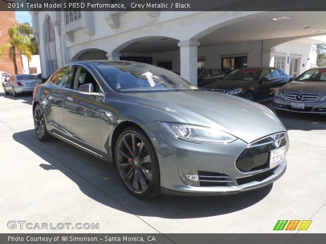 2014 Tesla Model S P85D Performance in Grey Metallic