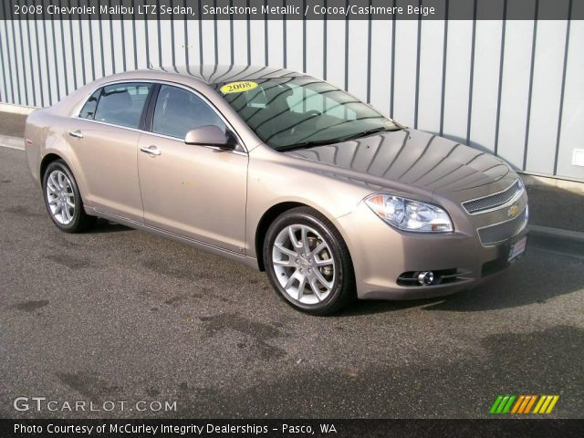 sandstone metallic 2008 chevrolet malibu ltz sedan cocoa cashmere beige interior gtcarlot. Black Bedroom Furniture Sets. Home Design Ideas