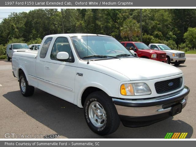 oxford white 1997 ford f150 lariat extended cab medium graphite interior. Black Bedroom Furniture Sets. Home Design Ideas
