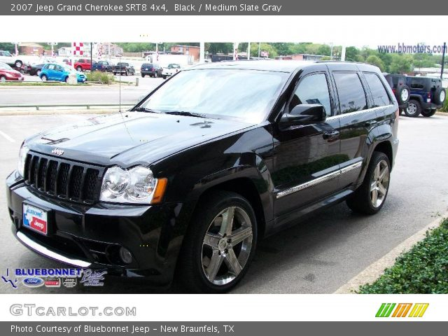 black 2007 jeep grand cherokee srt8 4x4 medium slate gray interior. Cars Review. Best American Auto & Cars Review