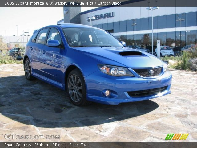 wr blue mica 2009 subaru impreza wrx wagon carbon black interior vehicle. Black Bedroom Furniture Sets. Home Design Ideas
