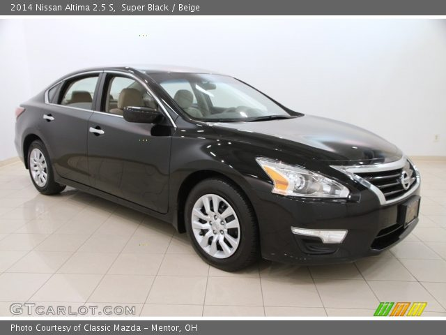 Super Black 2014 Nissan Altima 2 5 S Beige Interior Vehicle Archive 111986789
