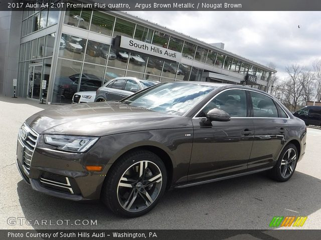 argus brown metallic 2017 audi a4 2 0t premium plus quattro nougat brown interior gtcarlot. Black Bedroom Furniture Sets. Home Design Ideas