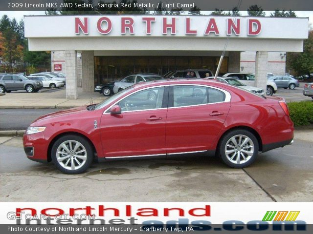 sangria red metallic 2009 lincoln mks awd sedan light. Black Bedroom Furniture Sets. Home Design Ideas