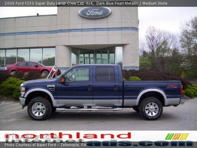 Dark Blue Pearl Metallic 2009 Ford F250 Super Duty Lariat Crew Cab 4x4
