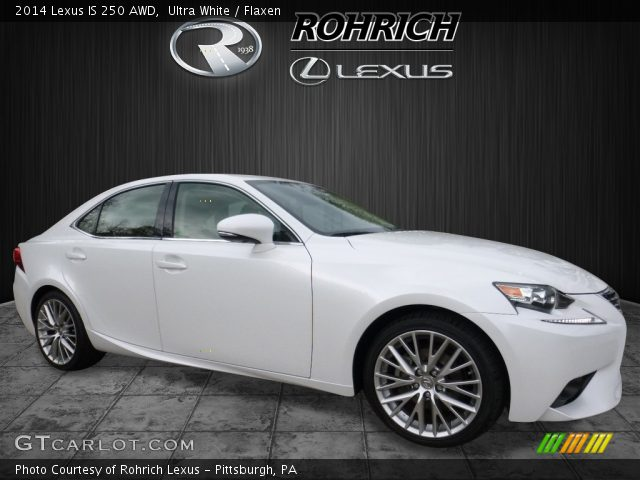 ultra white 2014 lexus is 250 awd flaxen interior vehicle archive 112452581. Black Bedroom Furniture Sets. Home Design Ideas