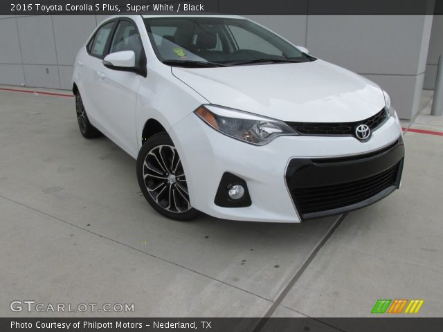 super white 2016 toyota corolla s plus black interior. Black Bedroom Furniture Sets. Home Design Ideas