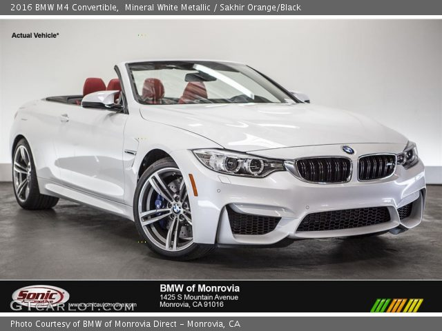 2016 BMW M4 Convertible in Mineral White Metallic