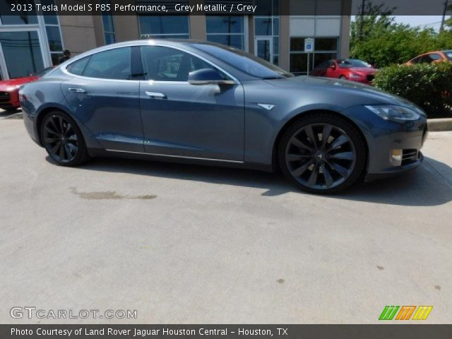 2013 Tesla Model S P85 Performance in Grey Metallic