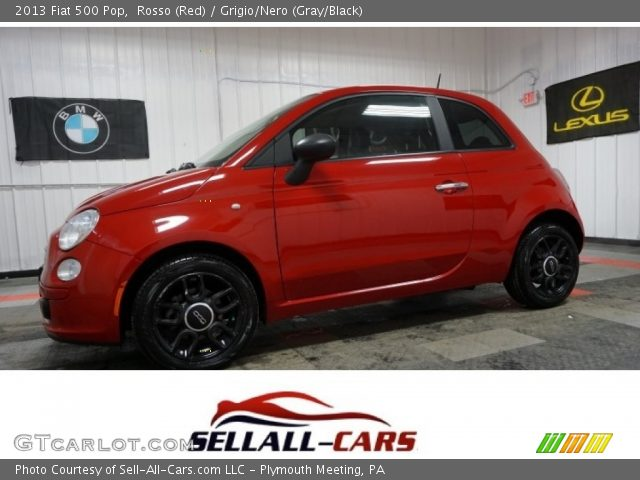 2013 Fiat 500 Pop in Rosso (Red)