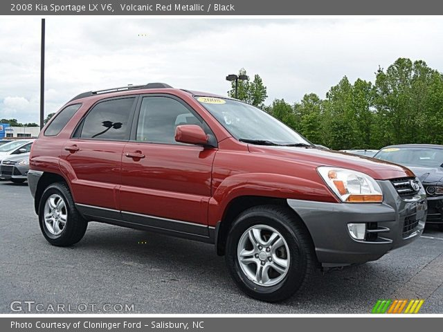 2008 Kia Sportage LX V6 in Volcanic Red Metallic