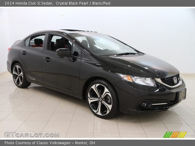 crystal black pearl 2014 honda civic si sedan black