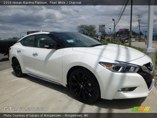 Pearl White 2016 Nissan Maxima Platinum Charcoal Interior