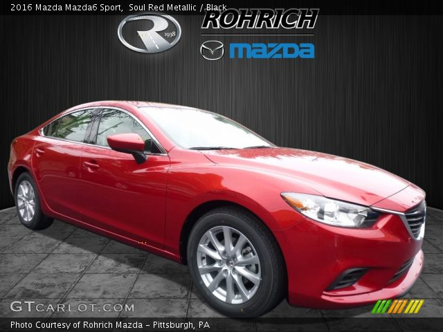 soul red metallic 2016 mazda mazda6 sport black interior vehicle archive. Black Bedroom Furniture Sets. Home Design Ideas