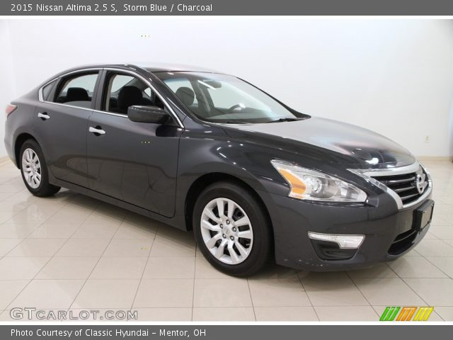storm blue 2015 nissan altima 2 5 s charcoal interior vehicle archive. Black Bedroom Furniture Sets. Home Design Ideas