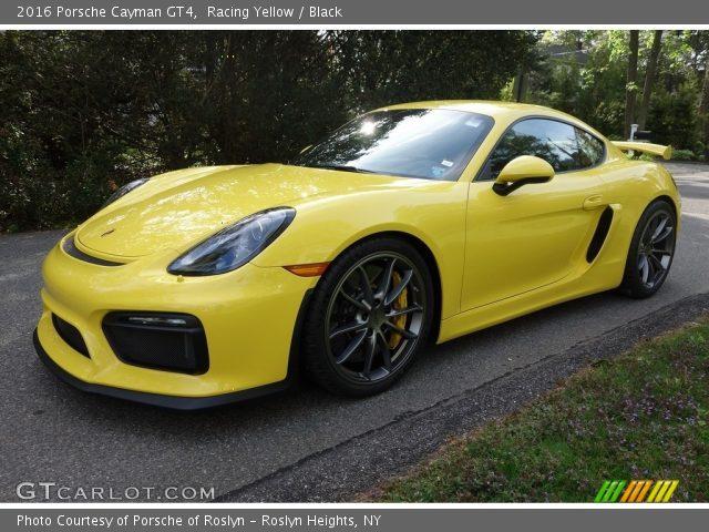 2016 Porsche Cayman GT4 in Racing Yellow