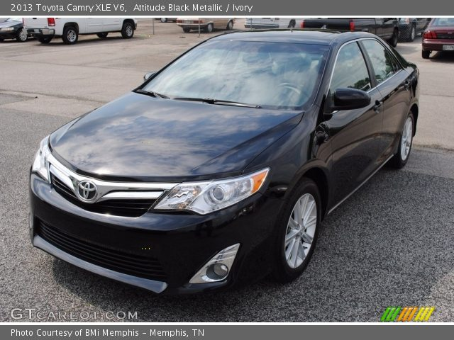 attitude black metallic 2013 toyota camry xle v6 ivory. Black Bedroom Furniture Sets. Home Design Ideas