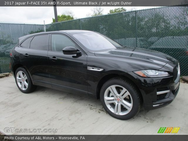 ultimate black 2017 jaguar f pace 35t awd r sport jet w light oyster interior. Black Bedroom Furniture Sets. Home Design Ideas