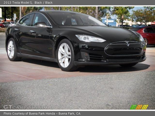2013 Tesla Model S  in Black
