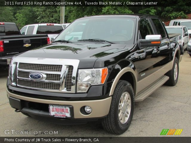2011 Ford F150 King Ranch SuperCrew 4x4 in Tuxedo Black Metallic