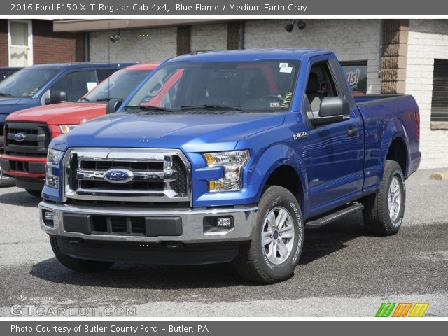 2016 Ford F150 XLT Regular Cab 4x4 in Blue Flame
